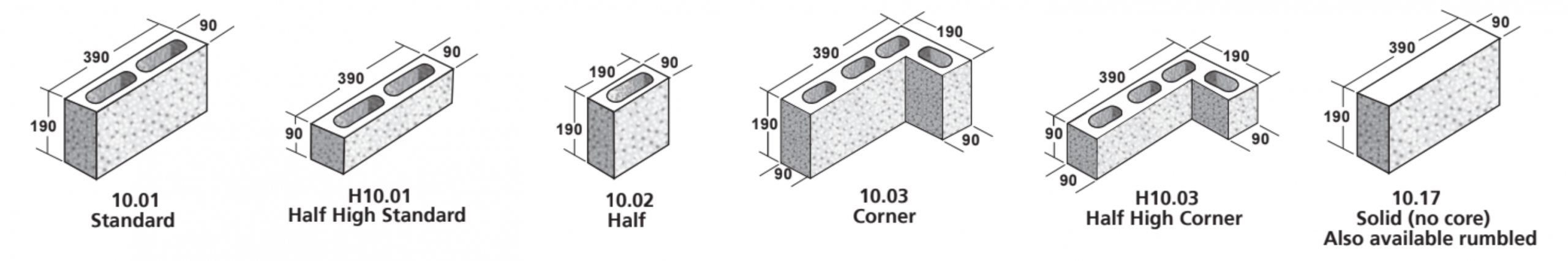 10 Series Masonry Blocks - ViBlock