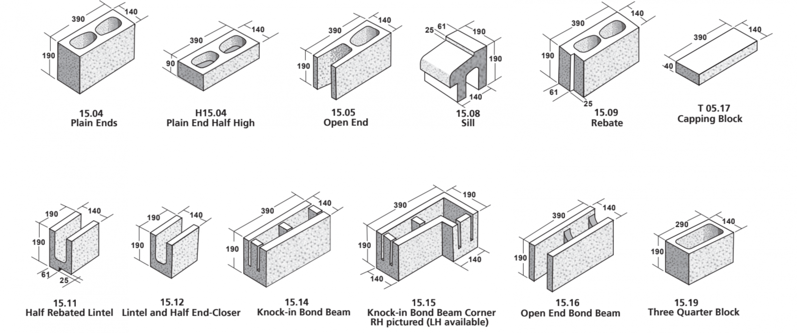 15 Series Masonry Blocks - ViBlock