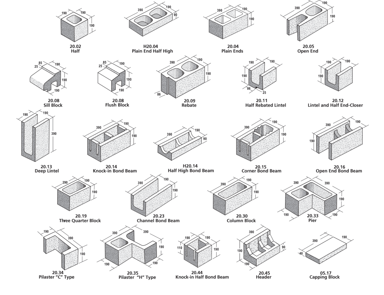 20 Series Masonry Blocks - ViBlock
