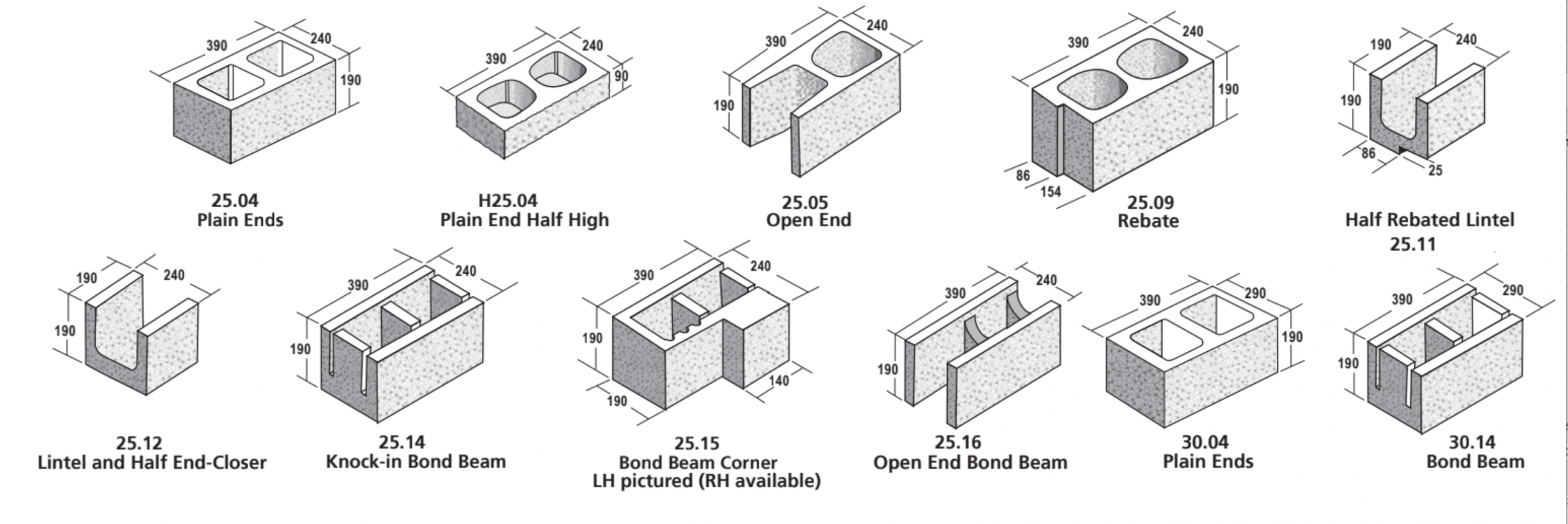 25-30 Series Masonry Blocks - ViBlock